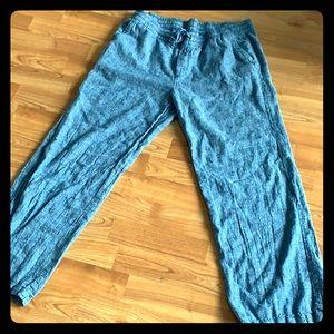 Women's blue light weight cotton palazzo pants